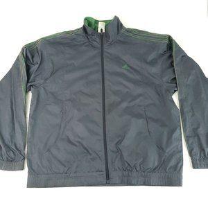 Adidas Full Zip Green Windbreaker